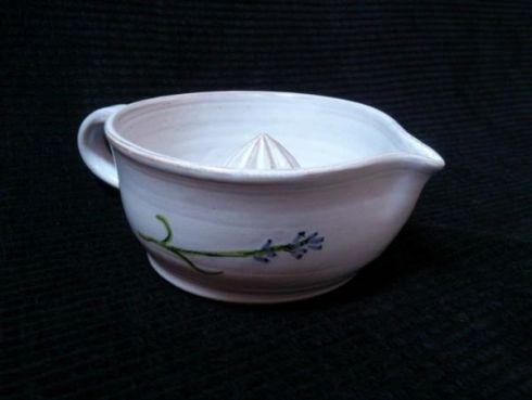 Lis na citron levandule - keramika