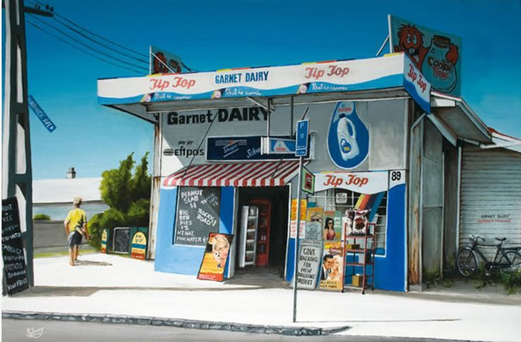 Garnet Dairy by Graham Young - paper and canvas art-prints from imagevault.co.nz