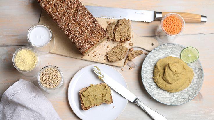 Eiweißbrot mit Linsenaufstrich   Rezepte   ARD-Buffet   SWR.de