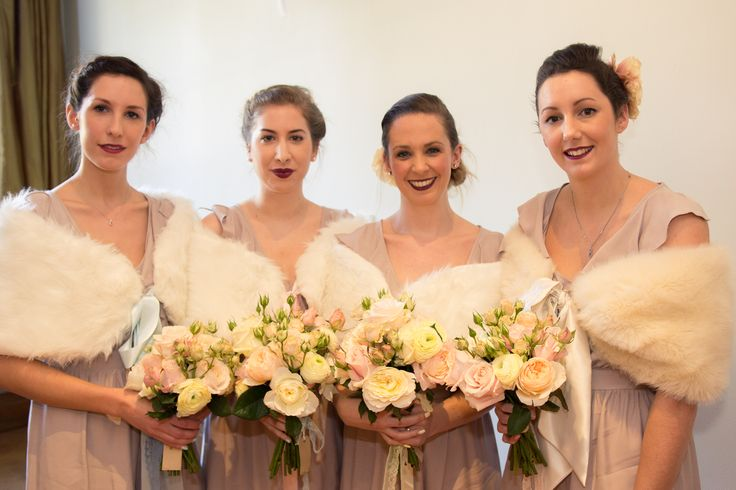 The Gorgeous Bridesmaids #thehitchcockwedding #pastel #vintage #bridesmaids