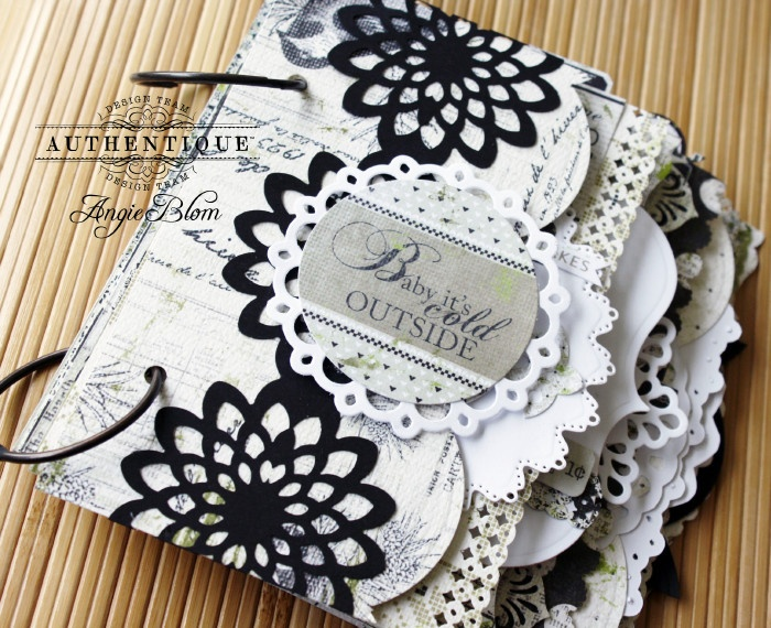 Mini Album made by Authentique Paper DT Member Angie Blom