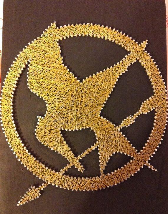 Hunger Games String Art, when you make this, may the odds be ever in your favor! For Emma! @Emma Zangs Hansen