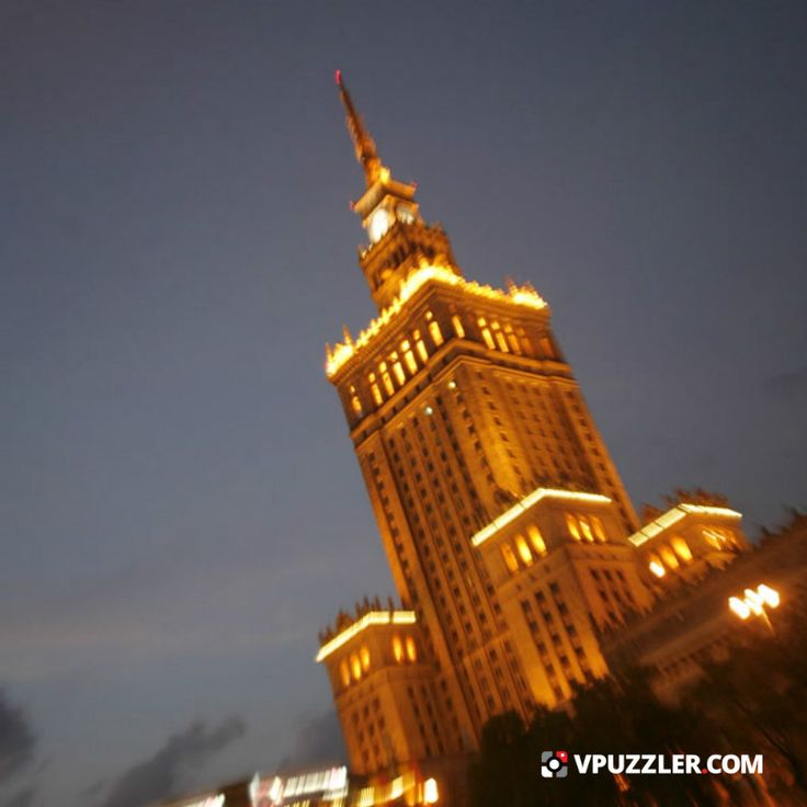 Warsaw by night #Poland #city #Europe #cityphoto #nightphoto #architecture #socarchitecture