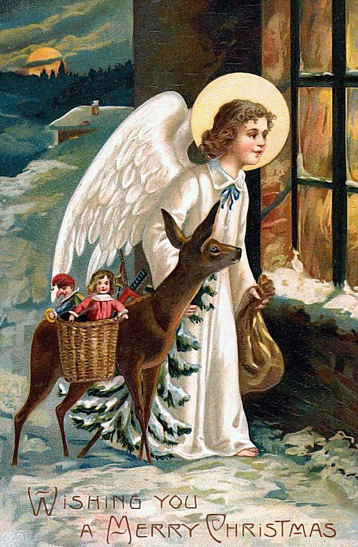 Расписать красиво, ангелы с новым годом открытки