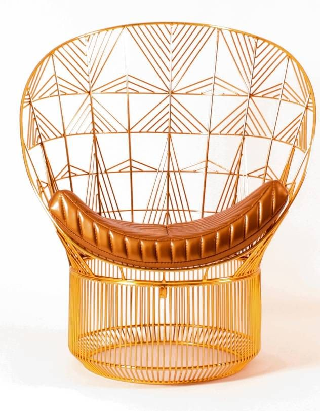 The Classic Peacock Chair Gets a Modern, Metal Makeover