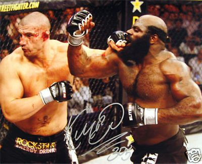 UFC/MMA KIMBO SLICE 16X20 HAND SIGNED PHOTO WITH PROOF AND COA RIP KIMBO RARE