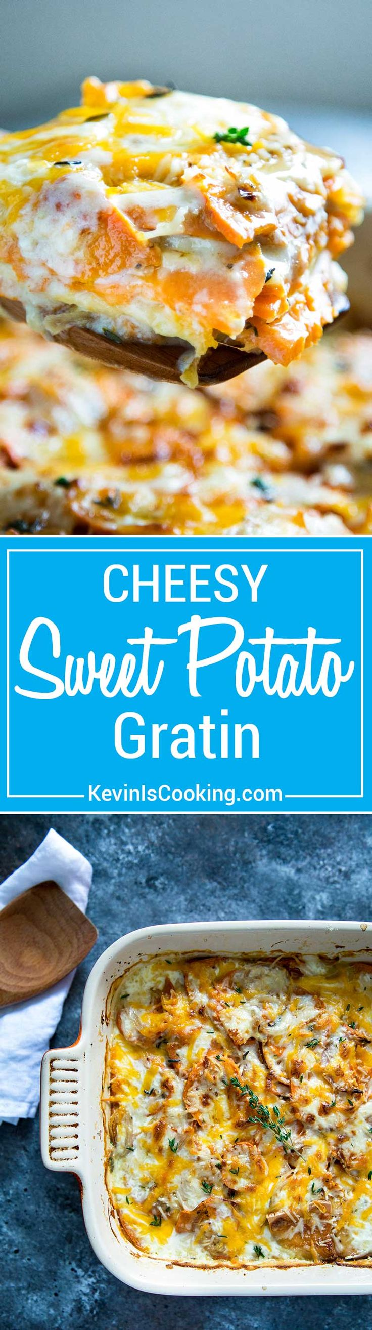Sweet Potato Gratin has layers of sliced sweet potato, shallots and ...