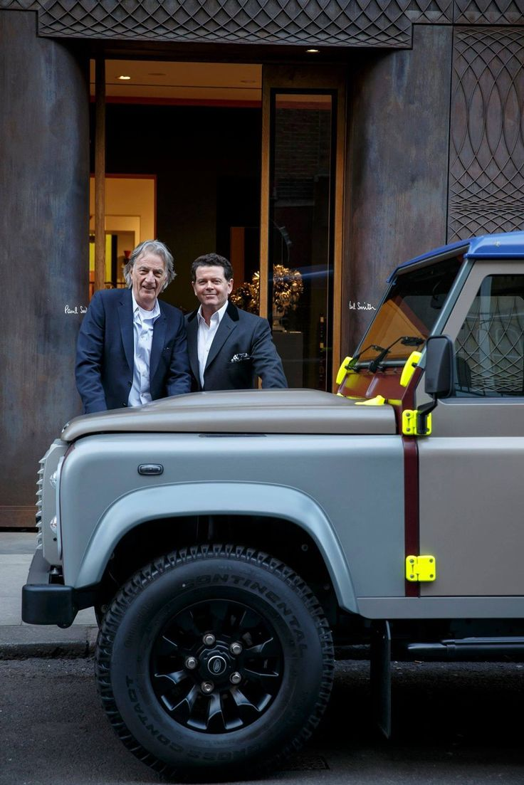 As a tribute to the land rover defender british fashion designer paul smith collaborates with