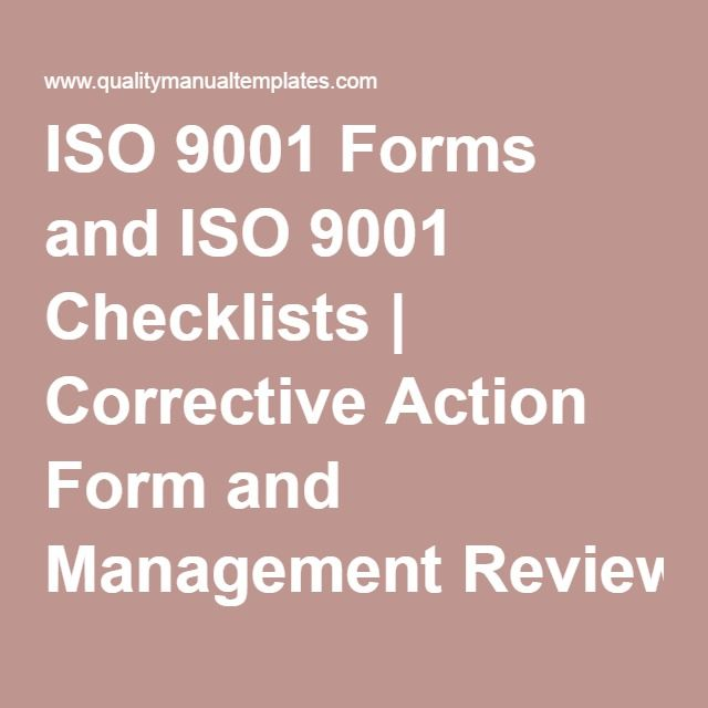 ISO 9001 Forms and ISO 9001 Checklists Corrective Action Form - corrective action plan template