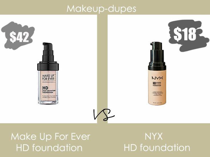 Makeup dupes #mufe #nyx #dupes