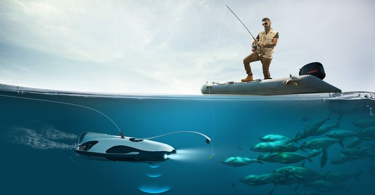 The PowerRay underwater drone finds fish and films them in 4K.  https://www.engadget.com/2017/01/03/powerray-underwater-fishing-robot/