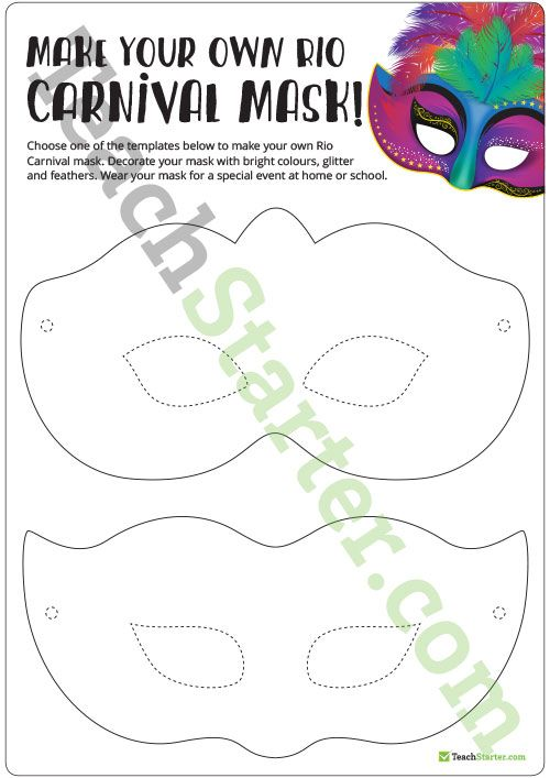 25 unique mask template ideas on pinterest diy mask diy rio carnival mask template teaching resource pronofoot35fo Gallery