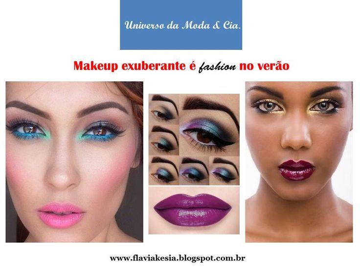 Inspirações de maquiagem exuberante, na vibe da década de 1970.