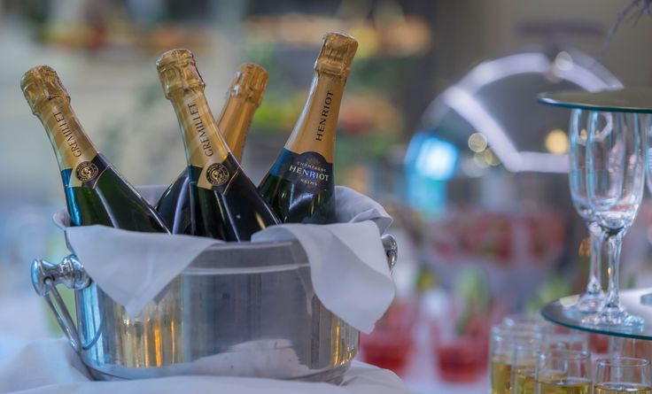 Bubbly is a must on the day of your wedding.