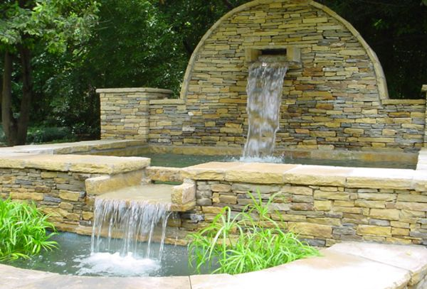Waterfall Walls Outdoors Outdoor Wall Fountains Ideas