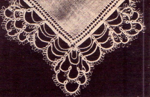 Genuine Vintage Gorgeous Intricately Lacy Petals Hankerchief Edging Tatting Pattern PDF