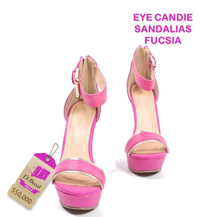 Sandalias Eye Candie, Si eres atrevida y te gusta sorprender, son ideales para tí  $50,000  http://elbaul.co/Productos/1654/Eye-Candie-sandalias-fucsia-