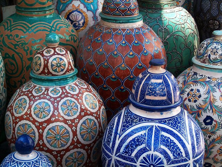 Beautiful pots to bring home from Morocco... #JetsetterCurator