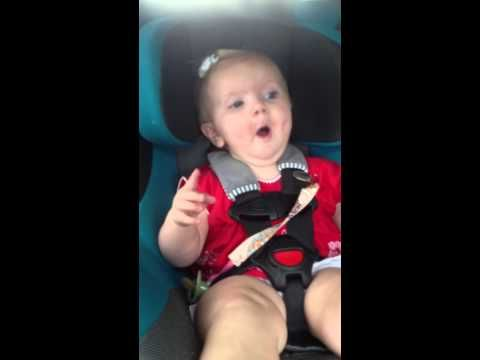 "Katy Perry: the foolproof solution to making your crying baby smile. | Watch This Adorable Baby Girl Freak Out When Katy Perry's ""Dark Horse"" Comes On The Radio"