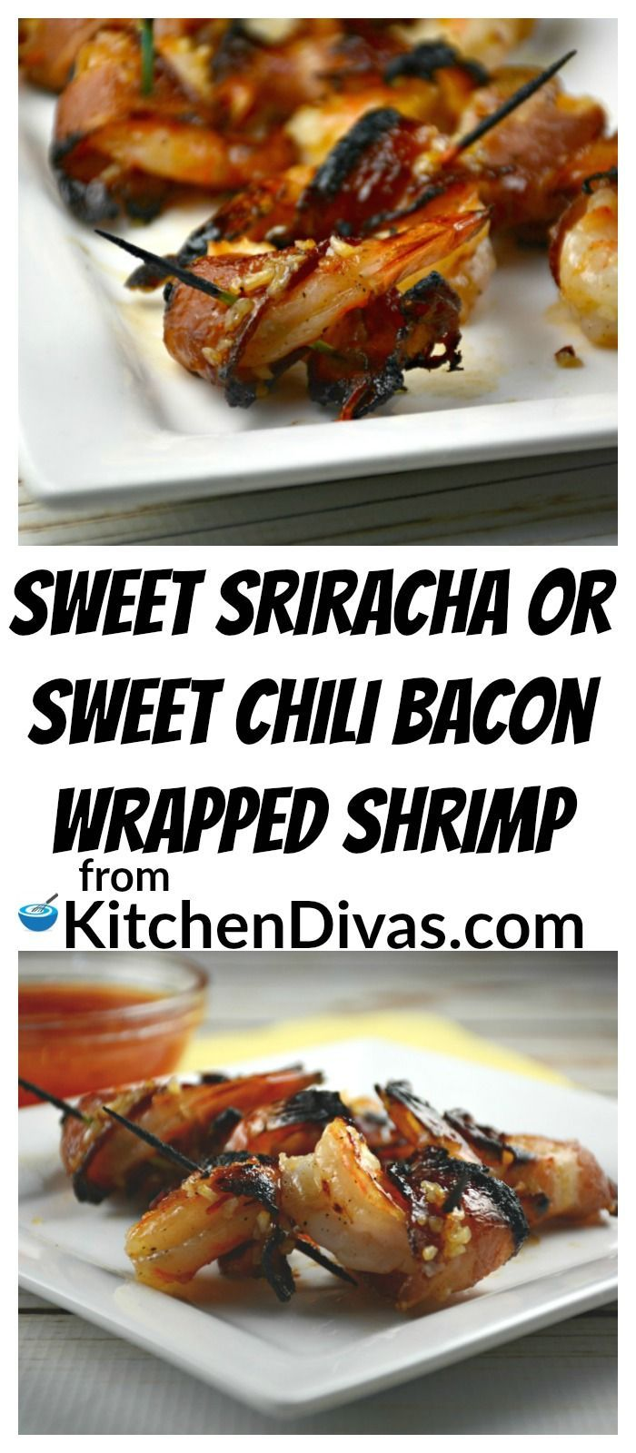 For all of you shrimp fans out there, this recipe for Sweet Sriracha or Sweet Chili Bacon Wrapped Shrimp is a definite keeper!  Easy to prepare and worth every minute!  In our house we make this shrimp recipe both ways, depending on our mood or who is eating or making them.  Prepared either way, this dish will not disappoint!