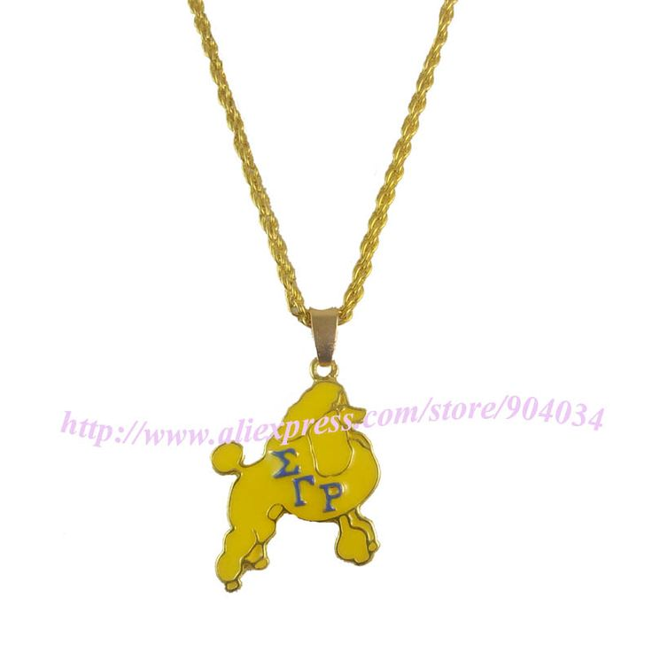 Sigma Gamma Rho Sorority   Poodles necklace  SGR  Necklace pendant  Jewelry With 45CM Chain 1 pc  free shipping