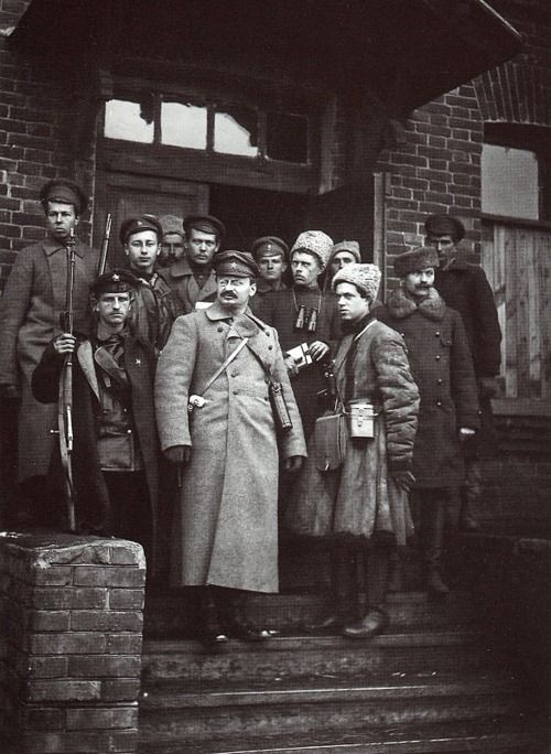 Leon Trotsky with his bodyguards, 1919.