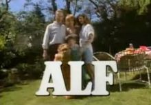 1986 ALF ALF is an American science fiction sitcom/fantasy that aired on NBC from September 26,1986 to March 24, 1990. It is the first television series to be presented in Dolby Surround sound system. The title character is Gordon Shumway, a friendly extraterrestrial nicknamed ALF (an acronym for Alien Life Form), who crash lands in the garage of the suburban middle-class Tanner family.