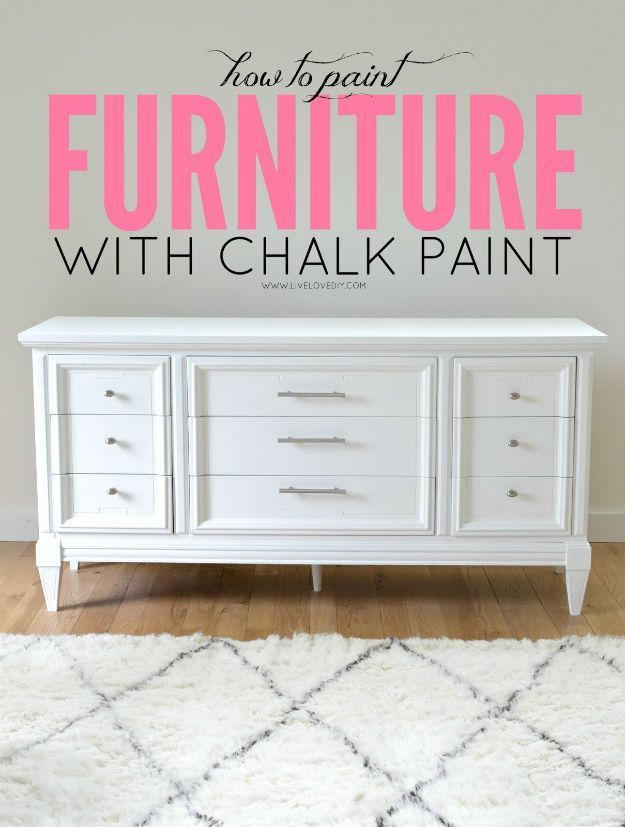 How To Paint Furniture With Chalkboard Paint   Easy DIY Furniture Painting Ideas By DIY Ready. http://diyready.com/20-awesome-chalk-paint-furniture-ideas/