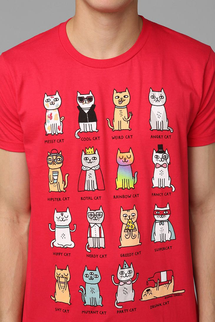 Cat personality tee products with my drawings on 39 em for Lucky cat shirt urban outfitters
