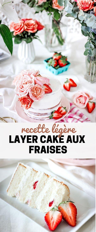 Layer cake aux fraises et fleurs fraiches | Cest le