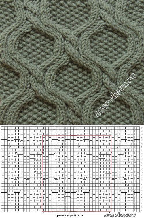узор 376 ромбы с жемчужным узором | каталог вязаных спицами узоров | Спицы - Узоры - Косы и араны | Постила