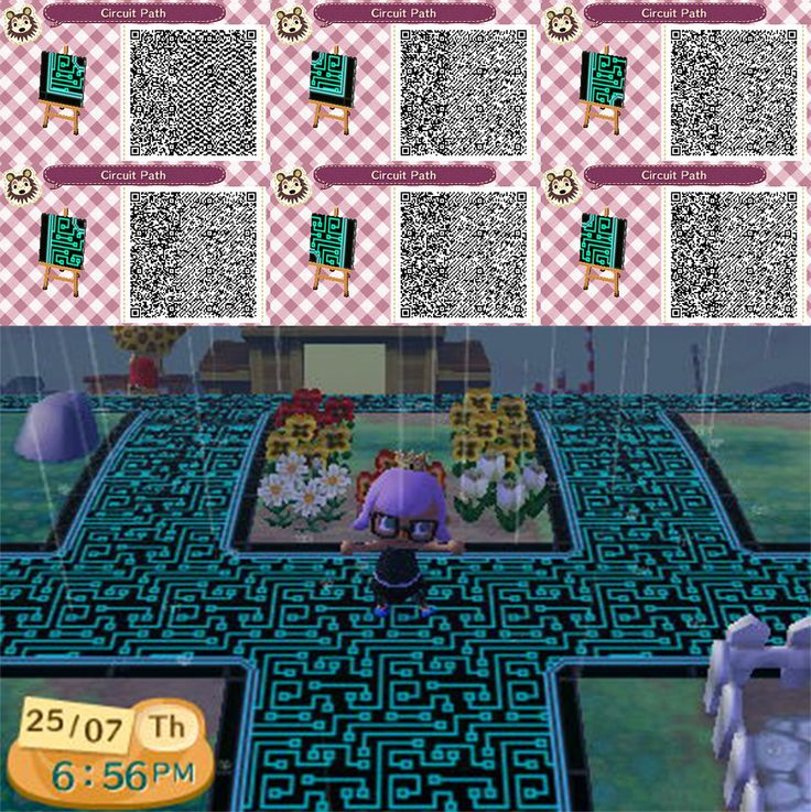 Animal crossing new leaf qr code paths pattern animal for Animal crossing mural