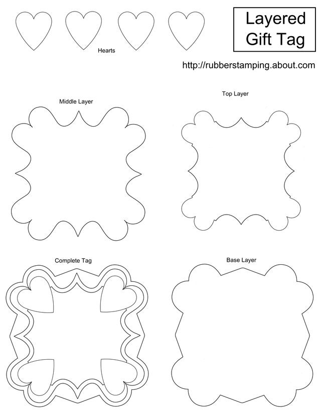 Use this free layered gift tag template to make your own striking gift tags. These layered gift tags will also make unusual decorative ornaments.