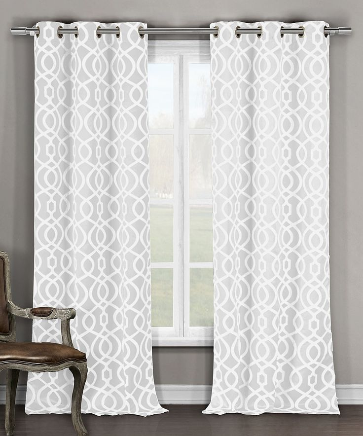 Duck River Textile White Harris Blackout Curtain Panel   Set Of Two
