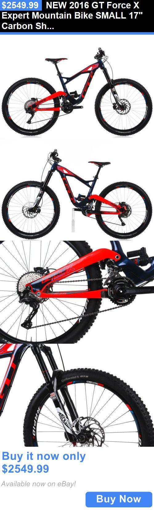 Sticker design for mountain bike - Bicycles New 2016 Gt Force X Expert Mountain Bike Small 17 Carbon Shimano Fox Rockshox