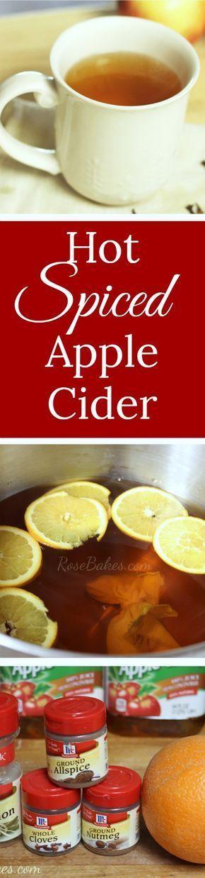 Hot Spiced Apple Cider | RoseBakes.com