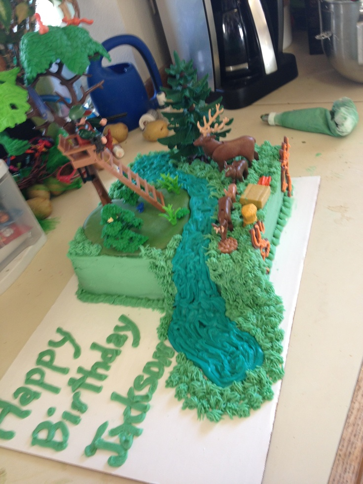 Hunting Cake With Playmobil Toys Made By Me Cake Cake