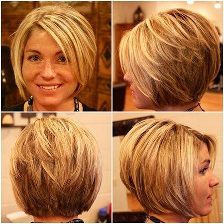 Schöne gestapelte Bob-Haarschnitte