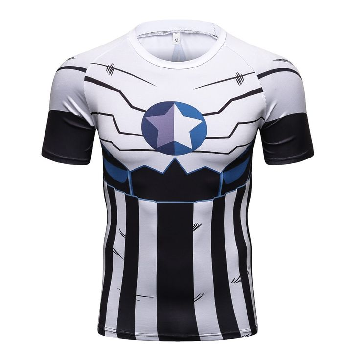 2017 new Compression Shirt Anime Superhero Punisher Captain America Superman 3D T Shirt Fitness Tights Base. Click visit to buy #T-Shirts