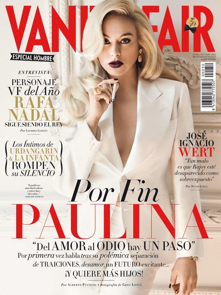 KOCCA & VANITY FAIR España octubre 2012 - Ya está aquí la portada de octubre: PAULINA RUBIO, que habla por primera vez tras su separación.