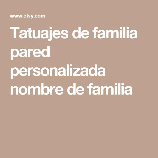 Tatuajes de familia pared personalizada nombre de familia