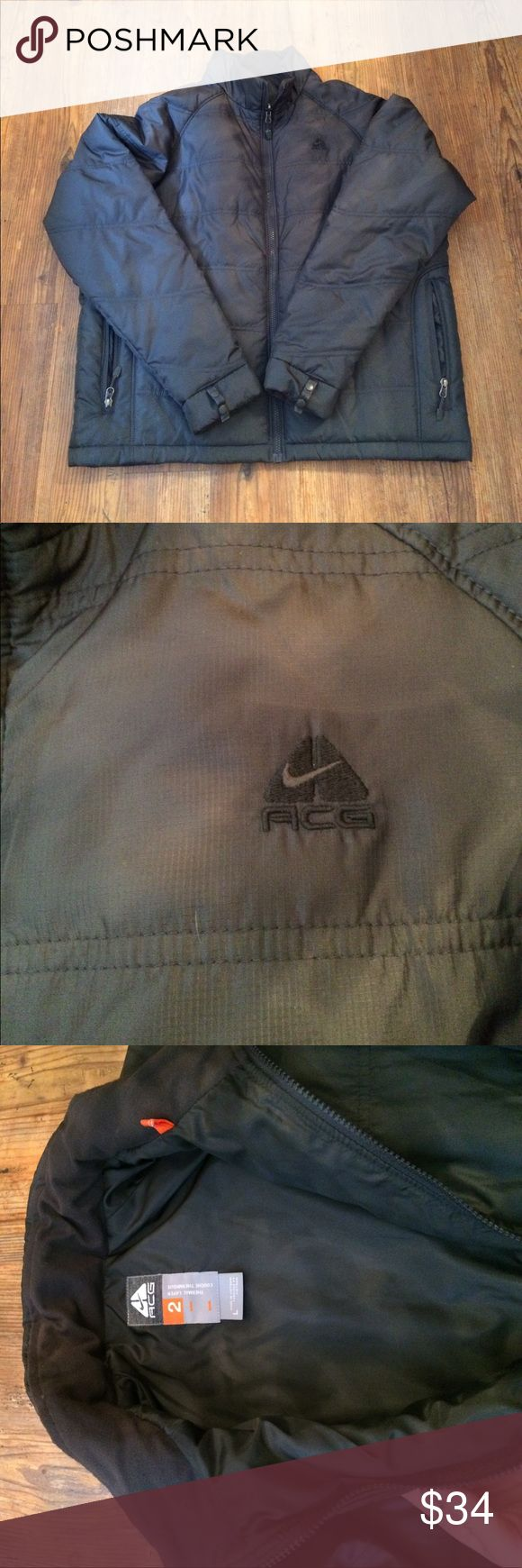 Nike ACG thermal layer (layer 2) Like new! Nike ACG thermal layer puffer coat. Layer 2 in the ACG system. zippers and snaps into layer three which I also have listed. So if you have both layer two and three it's like having three coats in one! Nike ACG Jackets & Coats Puffers