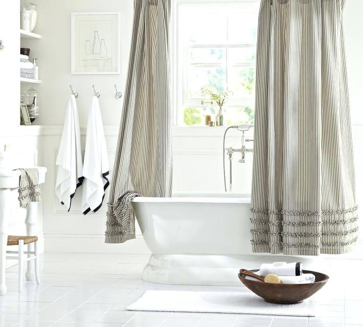 Weisser Bauernhaus Duschvorhang Coole Duschvorhange Badezimmer