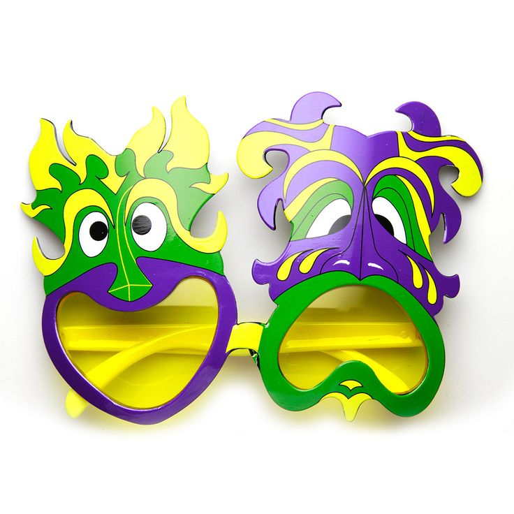 Mardi Gras Party Happy Sad Smile Now Cry Later Novelty Sunglasses