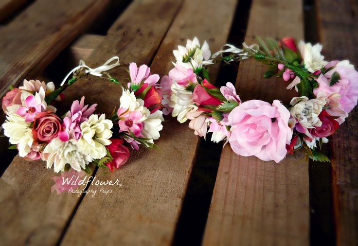 Floral Crown Mummy & Me set. Custom designed by Wildflower Photography Props