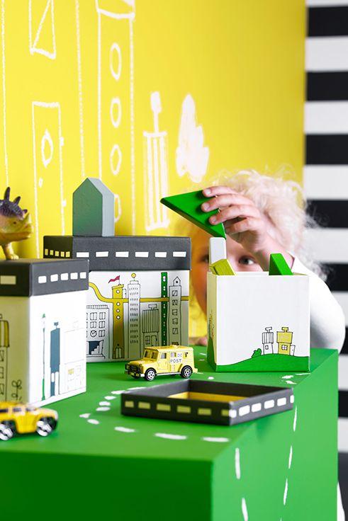 Φτιάξετε τη δική σας πόλη… στο δωμάτιό του με τα κουτιά FLYTTBAR.