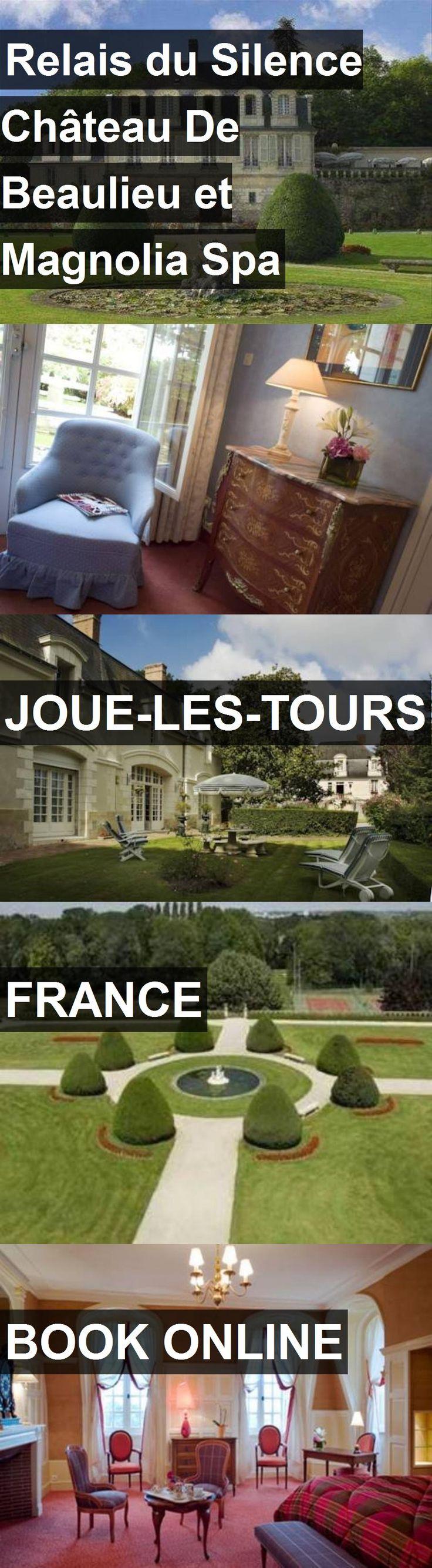 Hotel Relais du Silence Château De Beaulieu et Magnolia Spa in Joue-les-Tours, France. For more information, photos, reviews and best prices please follow the link. #France #Joue-les-Tours #travel #vacation #hotel