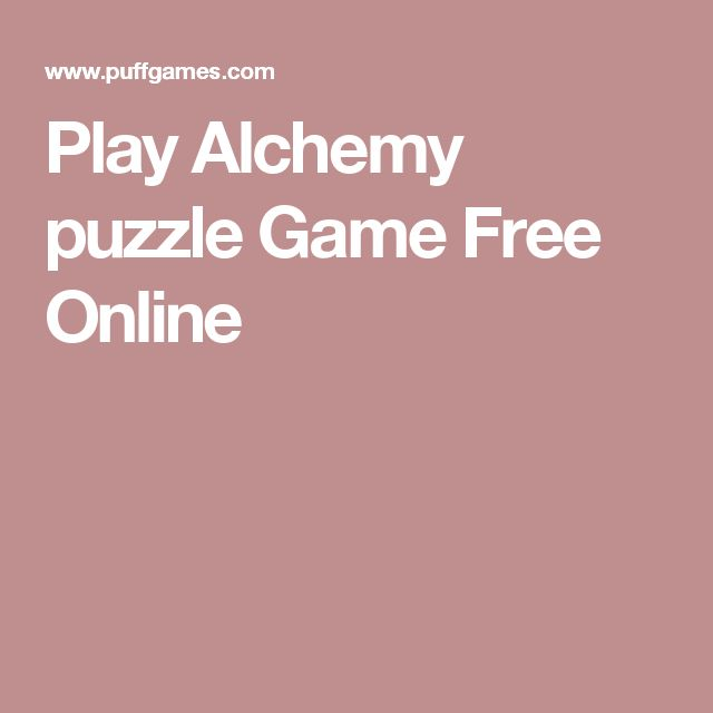 Play Alchemy puzzle Game Free Online
