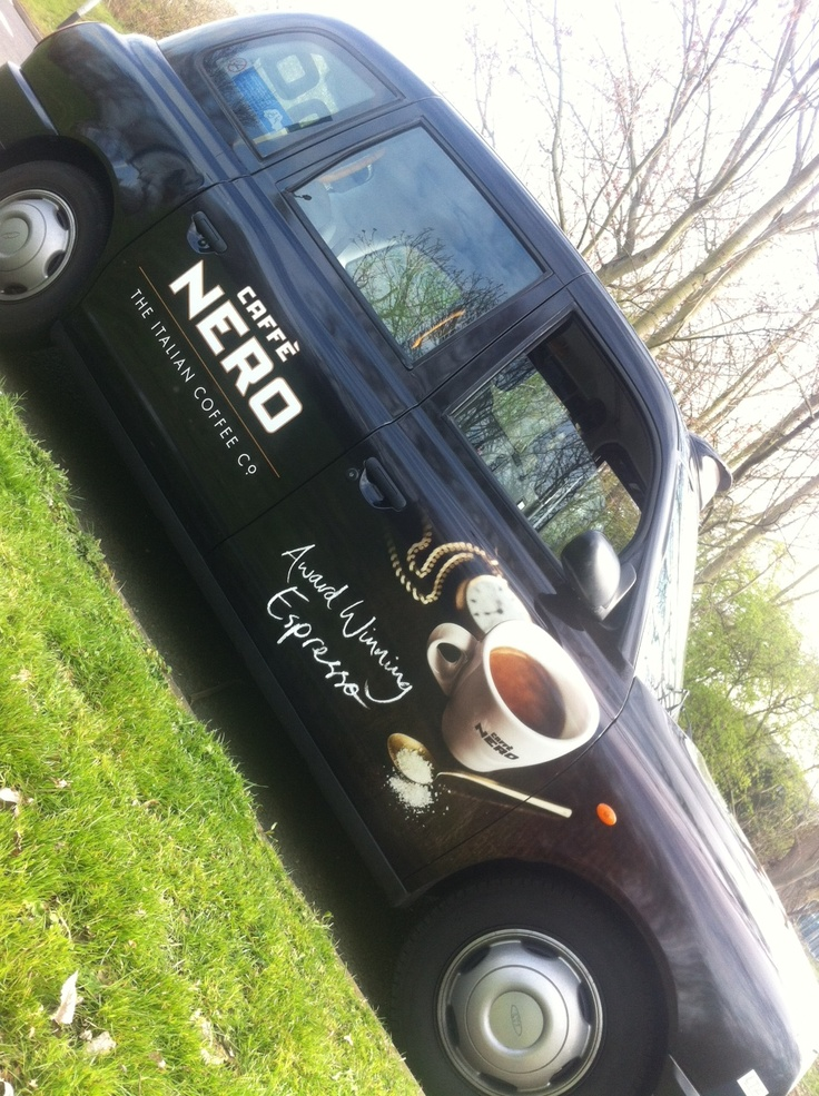 Caffe Nero taxi advertising
