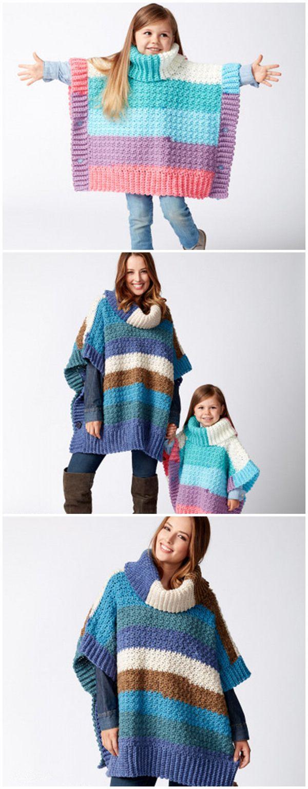 Mom and Me Crochet Ponchos